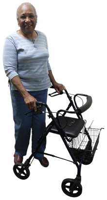 Woman with walker